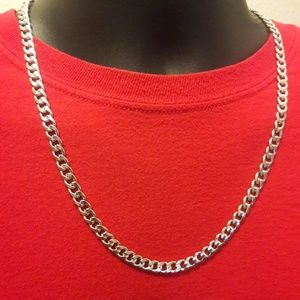 """Other - 24"""" 7mm Cuban Curb Chain"""